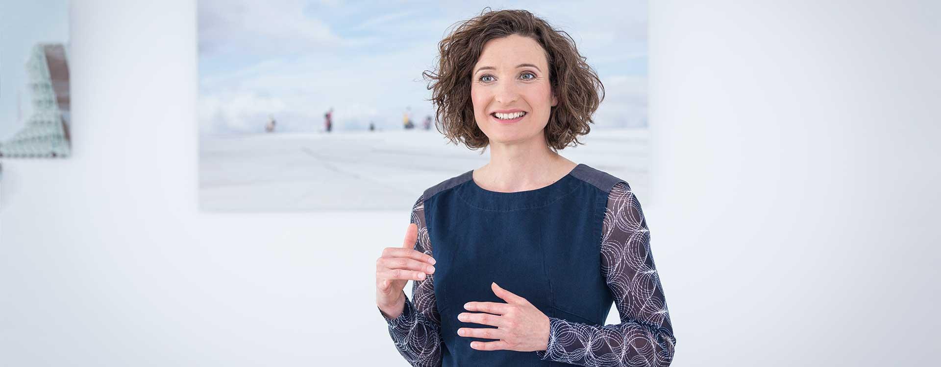 Foto eines Vortrags von Alexandra Giesen, Medical Affairs